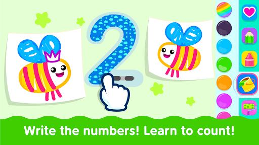 Bini Toddler Drawing Apps Coloring Games for Kids v screenshots 5