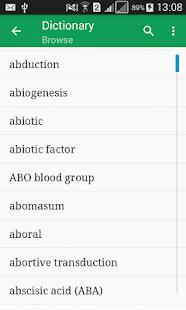 Biology Dictionary Offline v1.1 screenshots 1