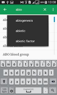 Biology Dictionary Offline v1.1 screenshots 2
