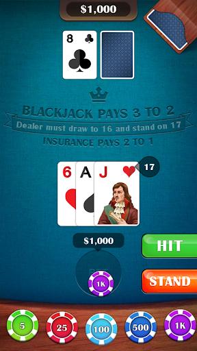 Blackjack 21 – casino card game v2.8 screenshots 5