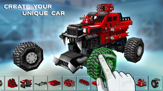 Blocky Cars – tank wars amp shooting games v7.6.17 screenshots 1