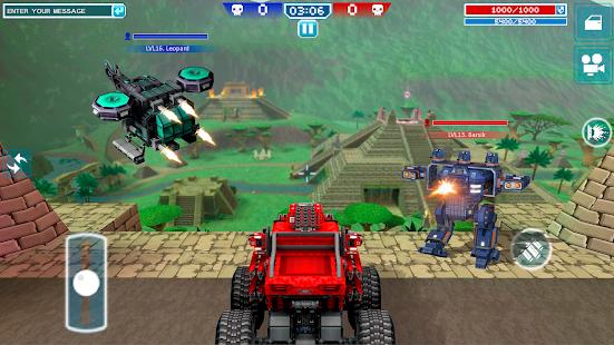 Blocky Cars – tank wars amp shooting games v7.6.17 screenshots 2