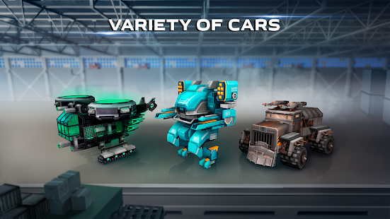 Blocky Cars – tank wars amp shooting games v7.6.17 screenshots 4