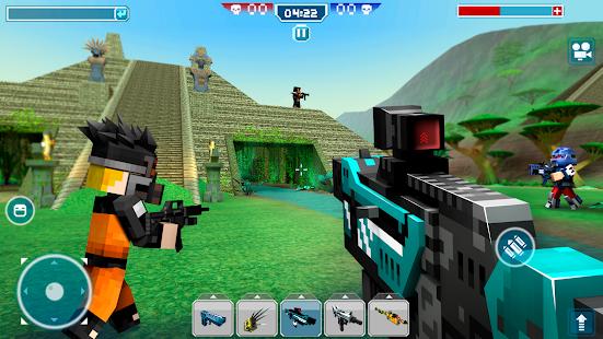 Blocky Cars – tank wars amp shooting games v7.6.17 screenshots 9