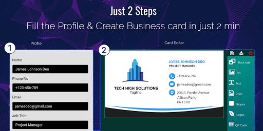 Business Card Maker Free Visiting Card Maker photo v9.0 screenshots 2