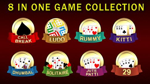 Callbreak Ludo Rummy 29 amp Solitaire Card Games v2.8 screenshots 1