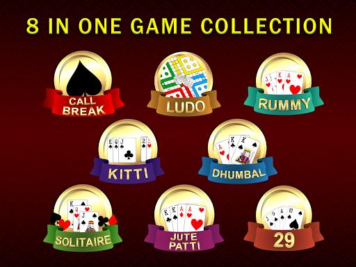 Callbreak Ludo Rummy 29 amp Solitaire Card Games v2.8 screenshots 9