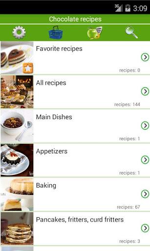 Chocolate recipes v screenshots 1
