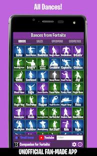 Dances from Fortnite Emotes Shop Wallpapers v screenshots 1