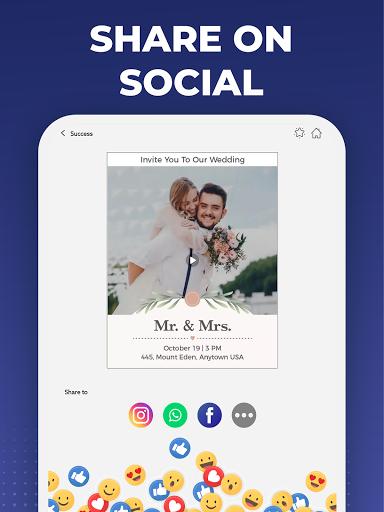 Digital Invitation Card Maker – Video eCards v39.0 screenshots 10