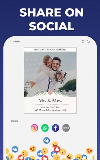 Digital Invitation Card Maker – Video eCards v39.0 screenshots 5