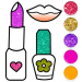 Download Beauty Drawing Pages Make Up Coloring Book Glitter 9.0 APK