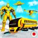 Download Flying School Bus Robot: Hero Robot Games 35 APK