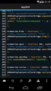 DroidEdit free code editor v1.23.6 screenshots 1