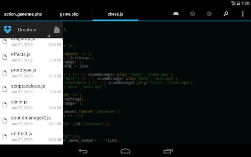 DroidEdit free code editor v1.23.6 screenshots 14