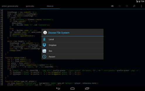 DroidEdit free code editor v1.23.6 screenshots 17