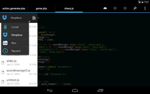 DroidEdit free code editor v1.23.6 screenshots 9