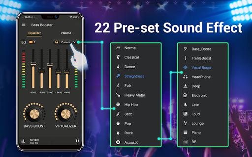 Equalizer — Bass Booster amp Volume EQ ampVirtualizer v1.7.2 screenshots 9