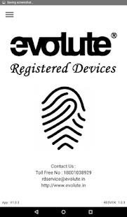 Evolute RD Service v1.0.8 screenshots 1
