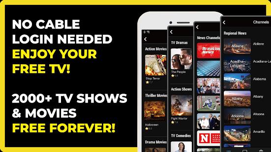 FREECABLE TV App Free TV Shows Free Movies News v9.27 screenshots 1