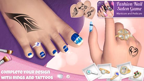 Fashion Nail Salon Game Manicure and Pedicure App v3.0.1 screenshots 3