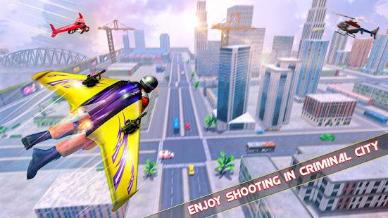 Flying Jetpack Hero Crime 3D Fighter Simulator v2.1 screenshots 4