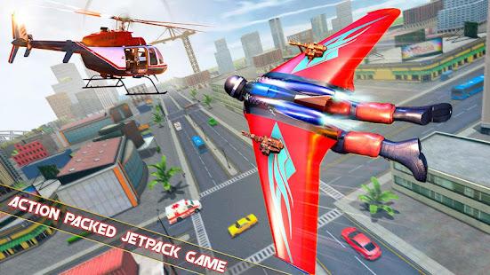 Flying Jetpack Hero Crime 3D Fighter Simulator v2.1 screenshots 5