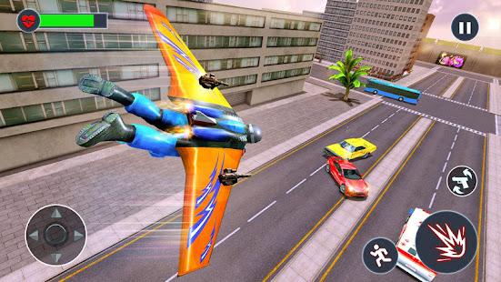 Flying Jetpack Hero Crime 3D Fighter Simulator v2.1 screenshots 6