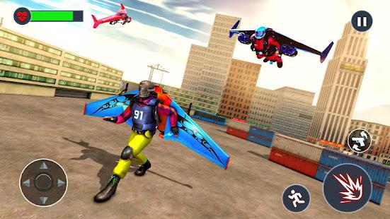 Flying Jetpack Hero Crime 3D Fighter Simulator v2.1 screenshots 7