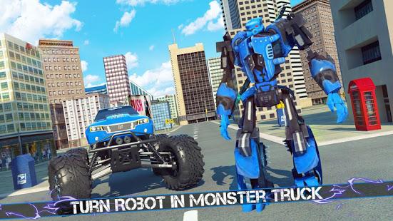 Flying Robot Monster Truck Battle 2019 v screenshots 1