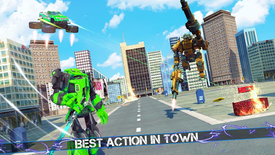 Flying Robot Monster Truck Battle 2019 v screenshots 2