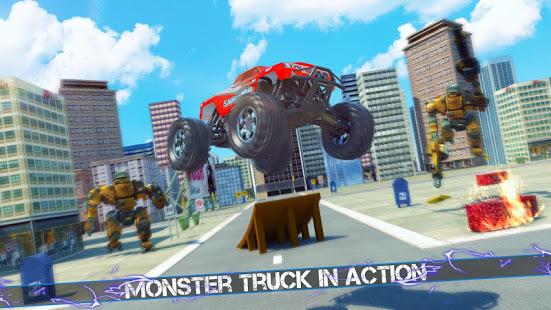 Flying Robot Monster Truck Battle 2019 v screenshots 4