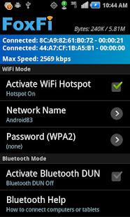 FoxFi WiFi Tether wo Root v screenshots 2