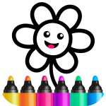 Free Download Bini Toddler Drawing Apps! Coloring Games for Kids  APK