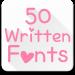 Free Download Fonts for FlipFont 50 Written 4.0.4 APK