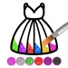Free Download Glitter dress coloring and drawing book for Kids 5.0 APK