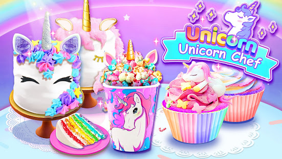 Girl Games Unicorn Cooking Games for Girls Kids v6.7 screenshots 1