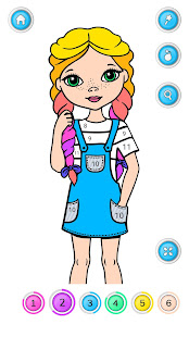 Girls Coloring Book – Color by Number for Girls v2.3.0.1 screenshots 2
