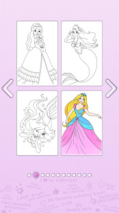 Girls Coloring Book – Color by Number for Girls v2.3.0.1 screenshots 3
