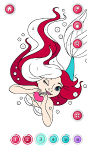 Girls Coloring Book – Color by Number for Girls v2.3.0.1 screenshots 4