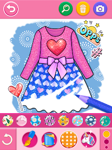 Glitter dress coloring and drawing book for Kids v5.0 screenshots 12