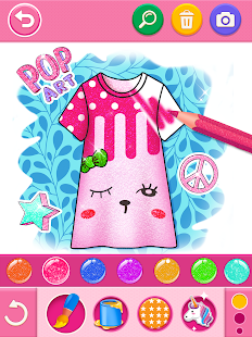Glitter dress coloring and drawing book for Kids v5.0 screenshots 14