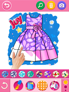 Glitter dress coloring and drawing book for Kids v5.0 screenshots 16