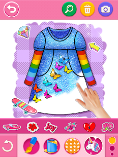 Glitter dress coloring and drawing book for Kids v5.0 screenshots 19