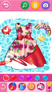 Glitter dress coloring and drawing book for Kids v5.0 screenshots 2