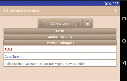Homoeopathic Repertorium v3.9.5.9 screenshots 2