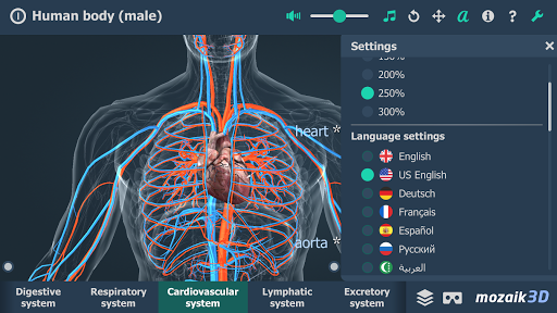 Human body male educational VR 3D v1.24 screenshots 2