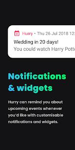 Hurry – Countdown to BirthdayVacation amp Widgets v27.1 screenshots 3