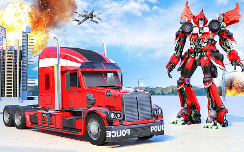 Indian Police Robot Transform Truck v1.14 screenshots 15