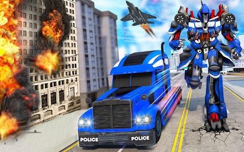 Indian Police Robot Transform Truck v1.14 screenshots 3